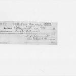 RW Davis Poll Tax Receipt (1893)