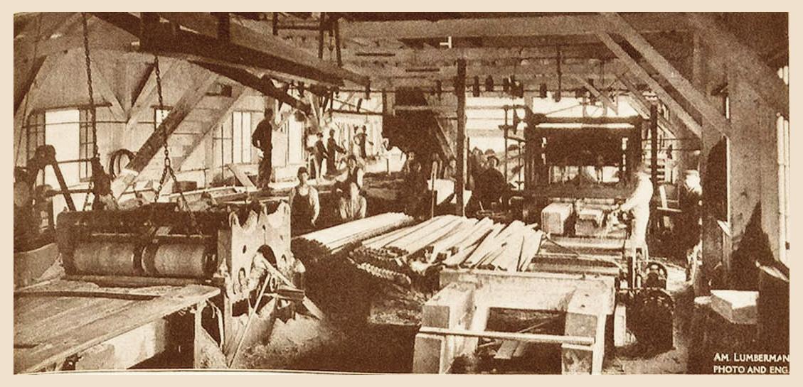 Interior Hodge Sawmill (1909)