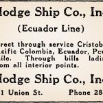 Hodge Ship Co. Ad