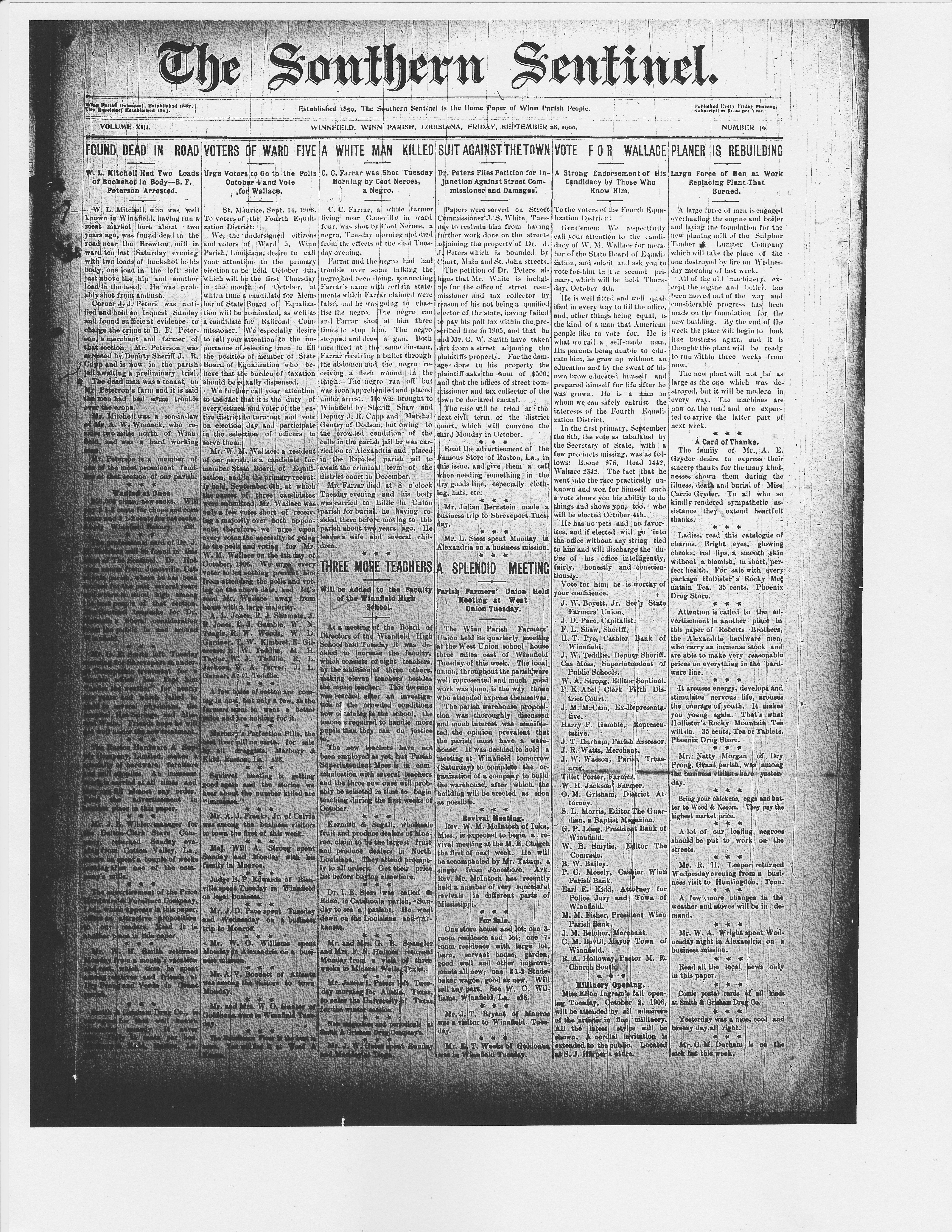 Sept. 28, Rebuilding Planer (1906)