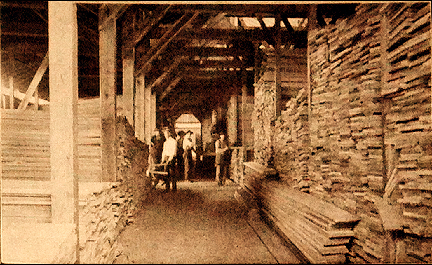 Interior Hodge Lumber Shed B (1909)
