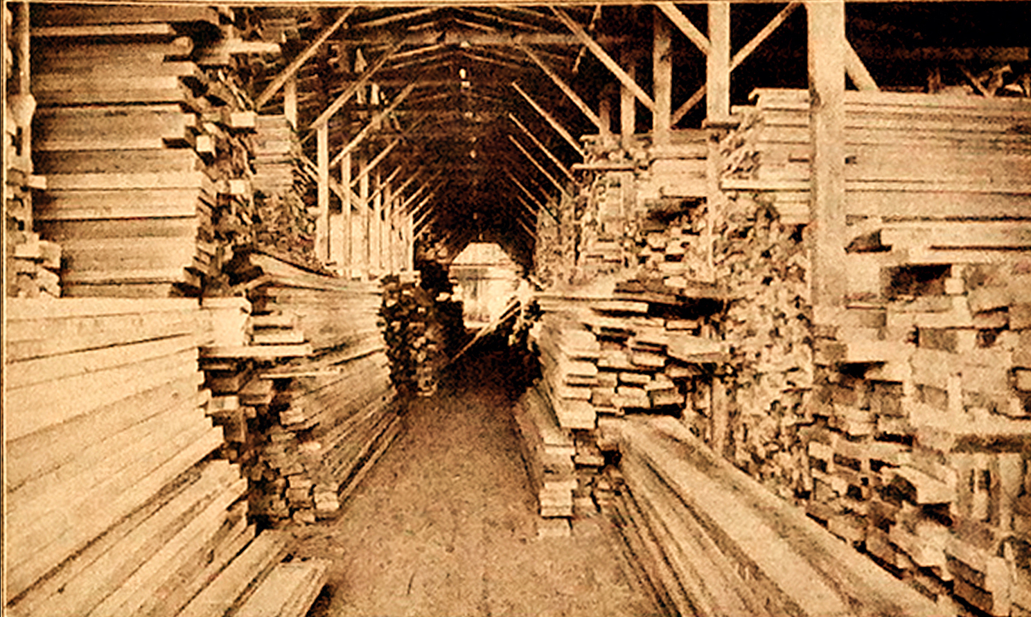 Interior Hodge Lumber Shed C (1909)