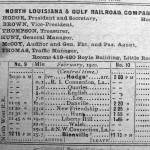 N.L. & G. Train Schedule