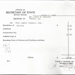 Receipt from LA Secretary of State