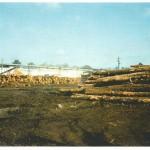 Log yard looking northwest