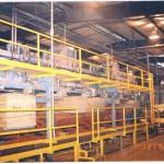 Dry veneer sorter/stacker (tending side)