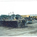 Log debarking line infeed deck