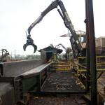 Crane and long debarker