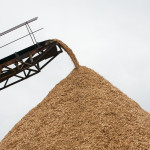 Chip conveyor and chip pile