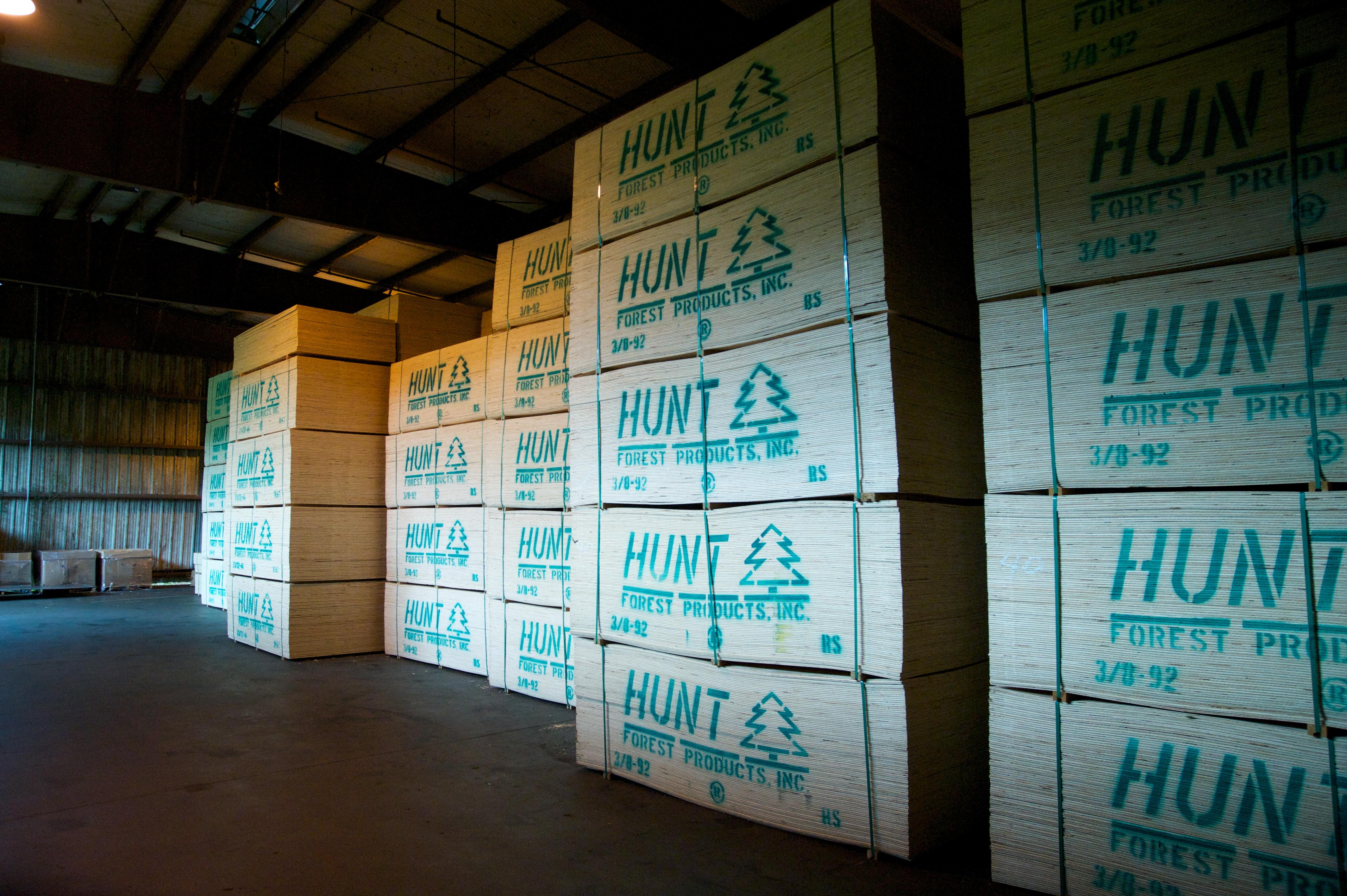 Finished plywood warehouse