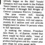 """Veneer plant construction at Pollock,"" Colfax Chronicle, January 12, 1978, 1."