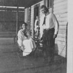 Frank C. and Lorine Stewart at the Comodius Hotel, Hodge, La. 1920s