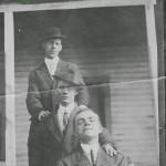 J.E. Crane or JB Baker (rear), Unidentified Man, J.S. Hunt (front), Comodius Hotel