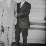 J.E. Crane or JB Baker (left) and Unidentified Man