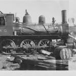 North Louisiana & Gulf Railroad Locomotive, near Hodge, La., circa 1909