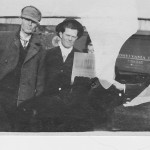 Unidentified man, J.S. Hunt (center),and unidentified woman