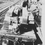 "Loading Finished Custom-Dimension Lumber onto a Train Car, circa 1909 (14x20"", 12x24"", & 16x18"")"